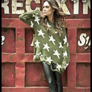 Wildfox Couture Seeing Stars Lennon Sweater Green